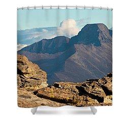 Long's Peak View Shower Curtain