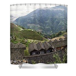 Longsheng Shower Curtain by Wade Aiken