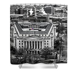 Shower Curtain featuring the photograph Longworth House Office Building by Mitch Cat