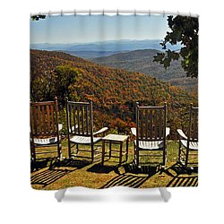 Relax And Enjoy Shower Curtain by Kay Lovingood