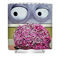 Shower Curtain featuring the photograph Look At Those Flowers by AJ Schibig