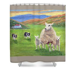 Look Back Shower Curtain