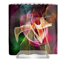 Shower Curtain featuring the digital art Look Carefully Into The Dark By Nico Bielow by Nico Bielow