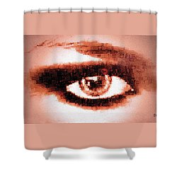 Shower Curtain featuring the digital art Look Into My Eye by Paula Ayers