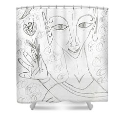 Look Into My Eyes. Love Shower Curtain