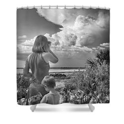 Shower Curtain featuring the photograph Look Out by Howard Salmon