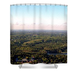 Shower Curtain featuring the photograph Look Out Mountain by Debra Forand