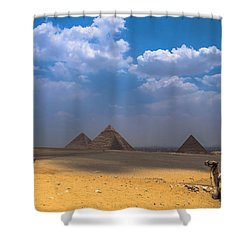Look Towards The Ancient Wonder Shower Curtain