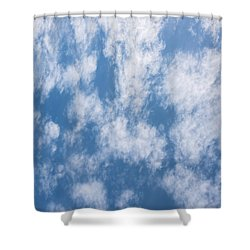 Look Up Not Down Clouds Shower Curtain by Terry DeLuco