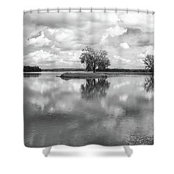 Looking Across J. C. Murphy Lake Shower Curtain
