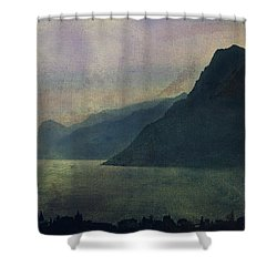 Looking At The Lake... Shower Curtain