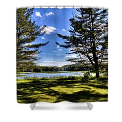 Looking At The Moose River Shower Curtain by David Patterson