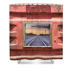 Shower Curtain featuring the photograph Looking Back by James BO Insogna