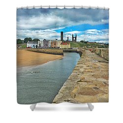 Looking Back To The St Andrews Skyline Shower Curtain by Katie Farquhar