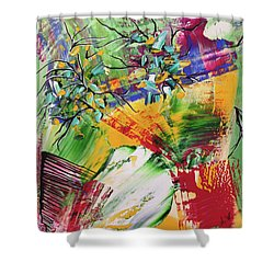 Looking Beyound The Present Shower Curtain by Sima Amid Wewetzer