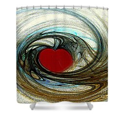 Looking Deep Into Your Heart Shower Curtain by Merton Allen