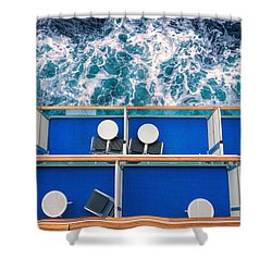 Looking Down At Sea Shower Curtain
