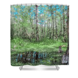 Looking Down At The Sky Shower Curtain