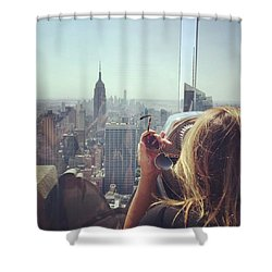 Looking Downtown In Style. #nyc Shower Curtain