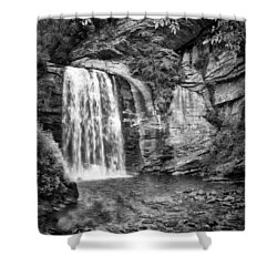 Shower Curtain featuring the photograph Looking Glass Falls by Howard Salmon