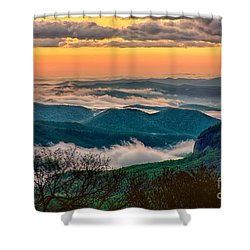 Looking Glass In The Blue Ridge At Sunrise Shower Curtain