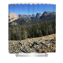Looking Into The Bridger Wild Lands Shower Curtain
