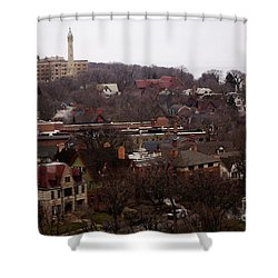 Looking North From  Lafayette And Summit. Shower Curtain by David Blank