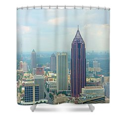 Shower Curtain featuring the photograph Looking Out Over Atlanta by Mike McGlothlen