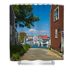 Looking Rockport Shower Curtain