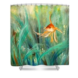 Looking - Square Painting Shower Curtain