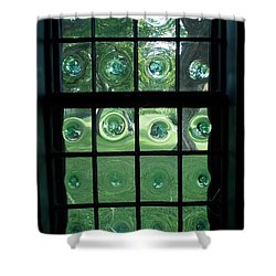 Looking Thru Bubble Glass Window Shower Curtain