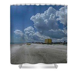 Looking Toward Daytona Beach Shores Shower Curtain by Judy Hall-Folde