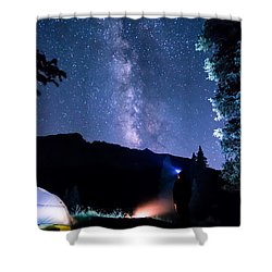 Looking Up At Milky Way Shower Curtain