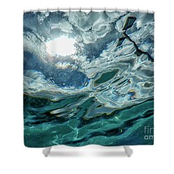 Looking Upwards Shower Curtain by Patricia Hofmeester
