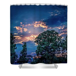 Looking West At Sunset Shower Curtain