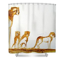 Lookout Post - Original Artwork Shower Curtain