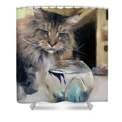 Look's Like Dinner's Just About Ready. Shower Curtain