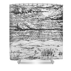 Looming Snowstorm Shower Curtain