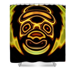 Shower Curtain featuring the digital art Looming Sorrows by Mario Carini