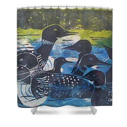Loon, I See Shower Curtain