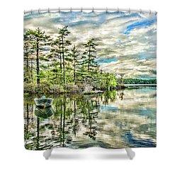 Loon Island Shower Curtain