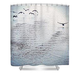 Shower Curtain featuring the photograph Looner Liftoff by Kendall McKernon