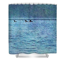 Loons On The Lake Shower Curtain