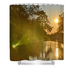 Loosdrecht Lensflare Shower Curtain