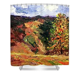 Loose Landscape Shower Curtain