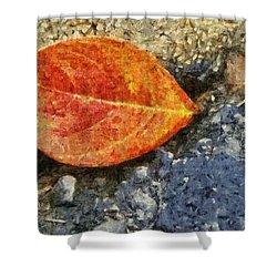 Loose Leaf Shower Curtain