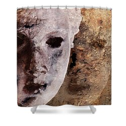 Loosing The Real You Behind The Mask Shower Curtain