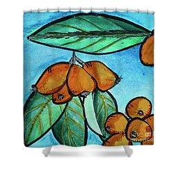 Loquats I Shower Curtain
