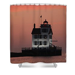 Lorain Lighthouse 1 Shower Curtain