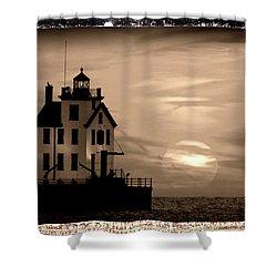 Lorain Lighthouse - Lake Erie - Lorain Ohio Shower Curtain